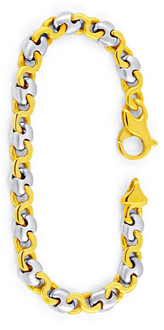 Foto 3, Designer Gelbgold Weissgold Armband 14K/585 Luxus! Neu!, K2901