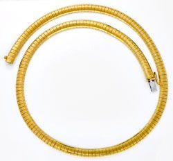 Foto 1, Goldkette Goldkollier Gravurmuster, 18K Gelbgold Luxus!, K2903