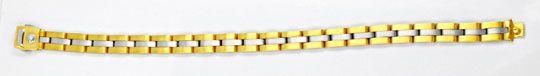 Foto 1, Massives Armband Weissgold Gelbgold 750/18K Luxus! Neu!, K2905