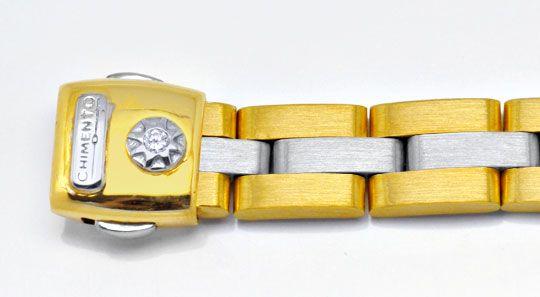 Foto 2, Massives Armband Weissgold Gelbgold 750/18K Luxus! Neu!, K2905