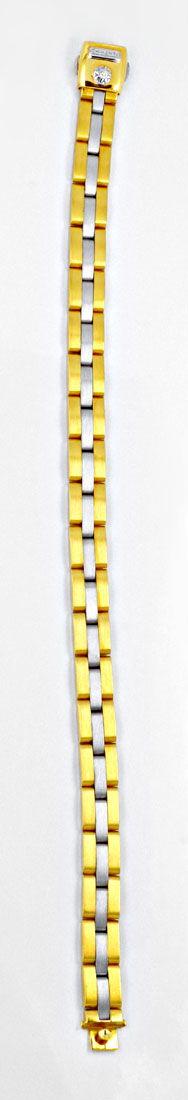 Foto 3, Massives Armband Weissgold Gelbgold 750/18K Luxus! Neu!, K2905