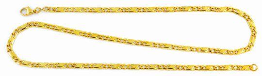 Foto 1, Dollar Goldkette, massiv Gelbgold 14K, 51cm Luxus! Neu!, K2907