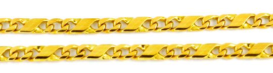 Foto 2, Dollar Goldkette, massiv Gelbgold 14K, 51cm Luxus! Neu!, K2907