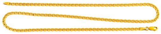 Foto 1, Variation Flachpanzerkette Gelbgold 18K/750 Luxus! Neu!, K2908