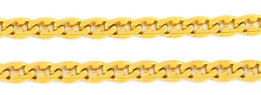 Foto 2, Variation Flachpanzerkette Gelbgold 18K/750 Luxus! Neu!, K2908