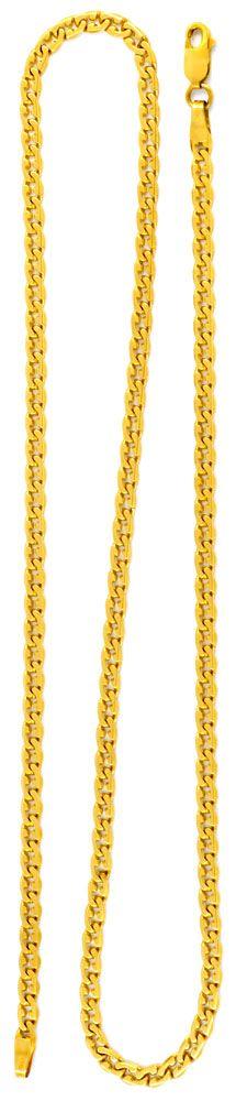 Foto 3, Variation Flachpanzerkette Gelbgold 18K/750 Luxus! Neu!, K2908
