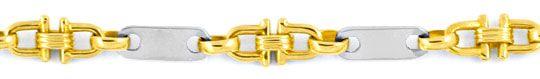 Foto 2, Goldkette Platten / Plättchen Steigbügel 18K Luxus! Neu, K2911