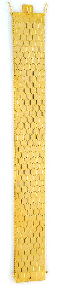 Foto 3, Gelbgold Waben Armband Kastenverschluss 18K Luxus! Neu!, K2915