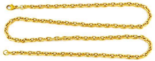 Foto 1, Ankerkette 4 Seitig geschliffen, massiv Gelbgold Luxus!, K2917