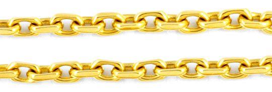 Foto 2, Ankerkette 4 Seitig geschliffen, massiv Gelbgold Luxus!, K2917