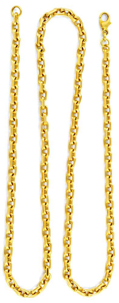 Foto 3, Ankerkette 4 Seitig geschliffen, massiv Gelbgold Luxus!, K2917