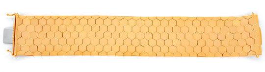 Foto 2, Waben Armband, Rötliches Gelbgold 18K/750 Luxus! - Neu!, K2919