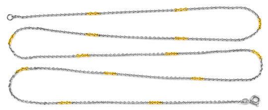 Foto 1, Platin Ankerkette massiv, mit Gelbgold Elementen Luxus!, K2920
