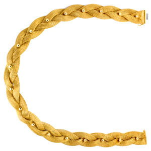 Foto 1, Goldkollier Strumpf Goldkette Geflochten 18K/750 Luxus!, K2924