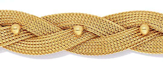 Foto 2, Goldkollier Strumpf Goldkette Geflochten 18K/750 Luxus!, K2924