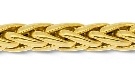 Foto 2, Handarbeit Zopf Goldarmband Gelbgold 14K/585 Luxus! Neu, K2926