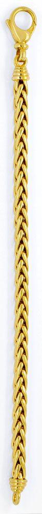 Foto 3, Handarbeit Zopf Goldarmband Gelbgold 14K/585 Luxus! Neu, K2926
