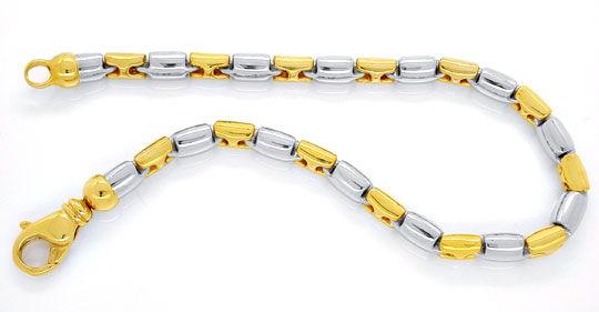 Foto 1, Designer Armband Gelbgold Weissgold 18K/750 Luxus! Neu!, K2928