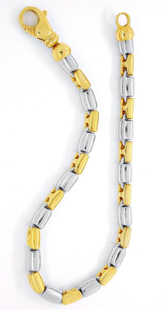 Foto 2, Designer Armband Gelbgold Weissgold 18K/750 Luxus! Neu!, K2928