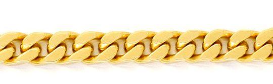 Foto 2, Flachpanzer Goldkette massiv Gelbgold 14K 44,7cm Luxus!, K2931