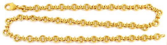 Foto 1, Designer Goldkette massiv Gelbgold 18K/750, Luxus! Neu!, K2934