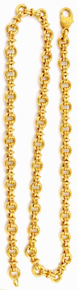 Foto 3, Designer Goldkette massiv Gelbgold 18K/750, Luxus! Neu!, K2934