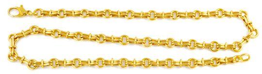 Foto 1, Designer Goldkette, massiv Gelbgold 18K/750 Luxus! Neu!, K2935