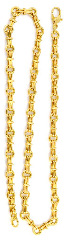 Foto 2, Designer Goldkette, massiv Gelbgold 18K/750 Luxus! Neu!, K2935