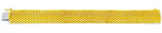 Foto 2, Gelbgold Armband in gewölbtem Fantasie Strickmuster 14K, K2936