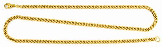 Foto 1, Flachpanzerkette 50cm, massiv Gelbgold, achtseitig Shop, K2939