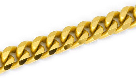 Foto 2, Flachpanzerkette 50cm, massiv Gelbgold, achtseitig Shop, K2939