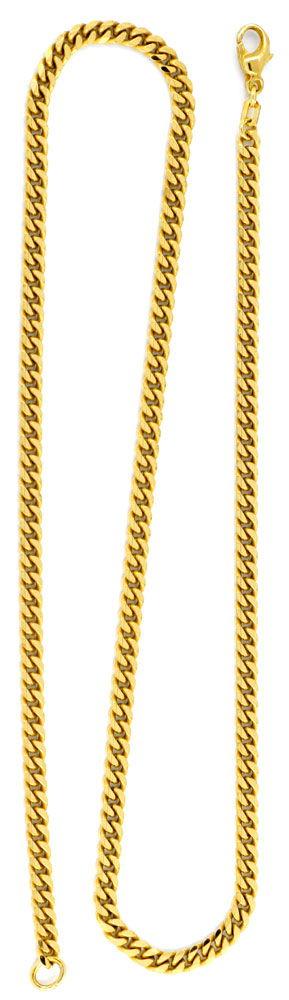 Foto 3, Flachpanzerkette 50cm, massiv Gelbgold, achtseitig Shop, K2939