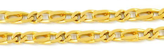 Foto 2, Pfauenauge oder Tigerauge Kette, massiv Gelbgold Luxus!, K2940