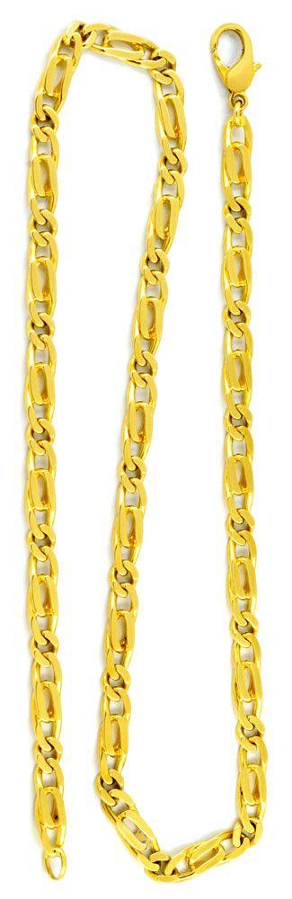 Foto 3, Pfauenauge oder Tigerauge Kette, massiv Gelbgold Luxus!, K2940