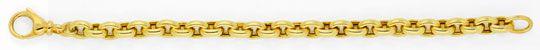Foto 1, Anker Goldarmband Gelbgold Riesen Karabiner, 14K Luxus!, K2942