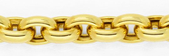 Foto 2, Anker Goldarmband Gelbgold Riesen Karabiner, 14K Luxus!, K2942
