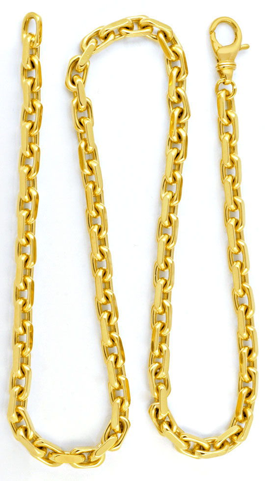 Foto 3, Ankerkette massiv Gelbgold 18K/750 143 Gramm Luxus! Neu, K2949