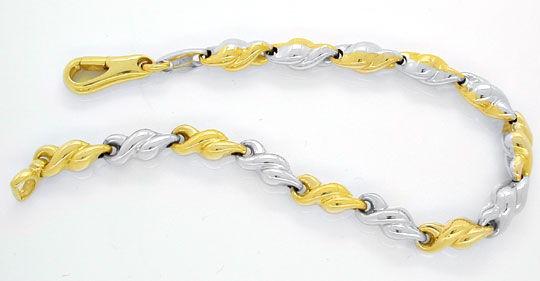 Foto 1, Designer Armband, Gelbgold Weissgold 18K/750, Shop Neu!, K2952
