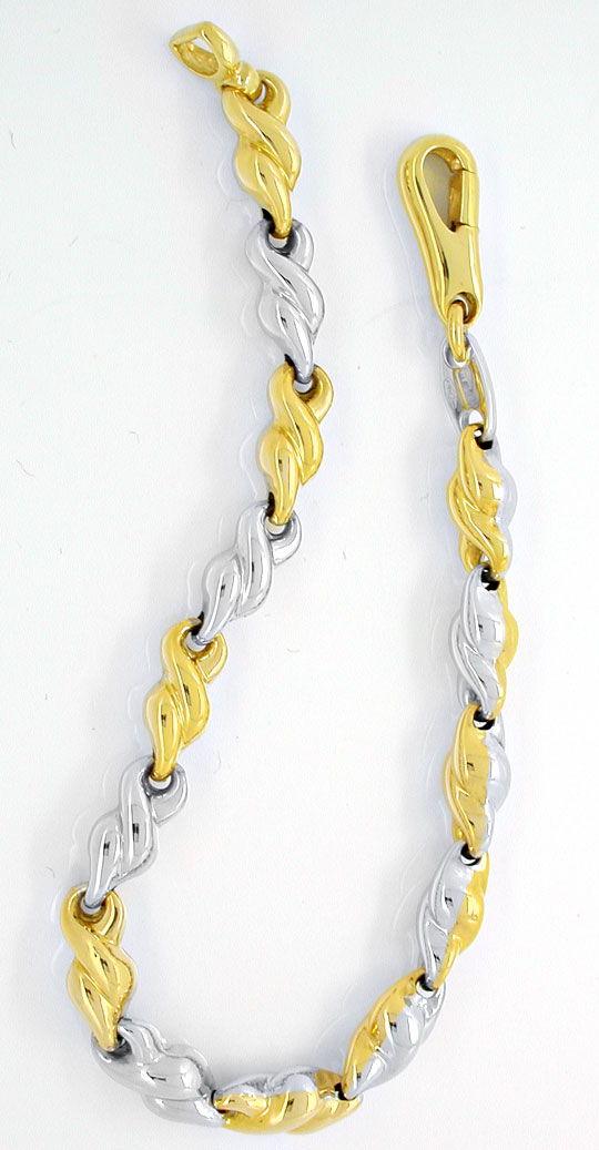 Foto 2, Designer Armband, Gelbgold Weissgold 18K/750, Shop Neu!, K2952