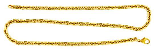 Foto 1, Anker Goldkette, massiv 14K Gelbgold 50,6cm Luxus! Neu!, K2953