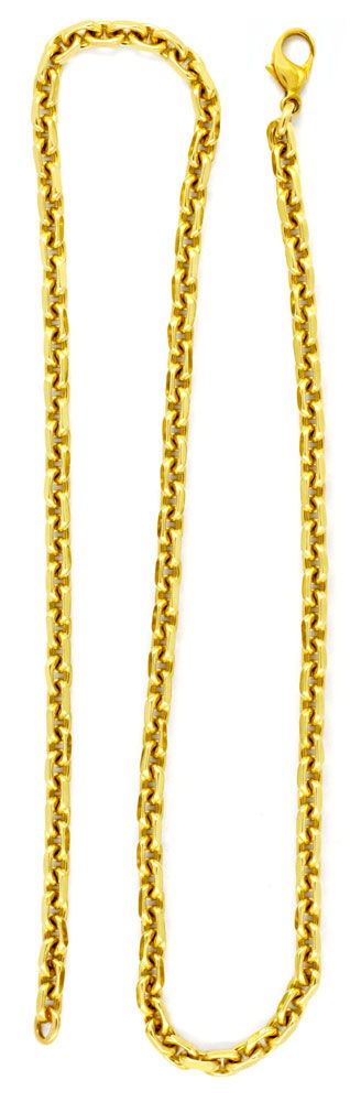 Foto 2, Anker Goldkette, massiv 14K Gelbgold 50,6cm Luxus! Neu!, K2953