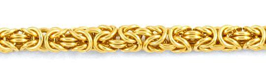 Foto 2, Königskette, massiv Gelbgold 14K 50cm 4,4mm Luxus! Neu!, K2954