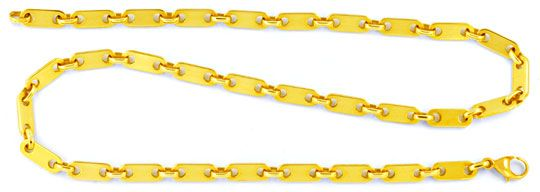 Foto 1, Plättchen Goldkette massiv 14K/585 Gelbgold Luxus! Neu!, K2955