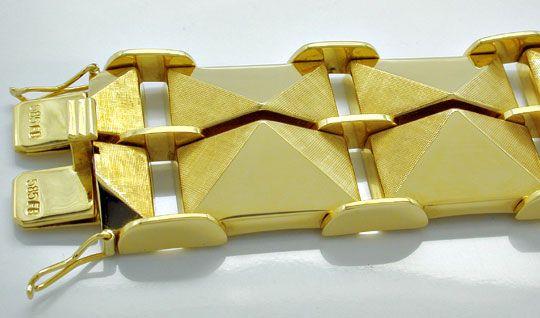 Foto 1, Seltenes Designer Pyramiden Gelbgold Armband Luxus! Neu, K2961