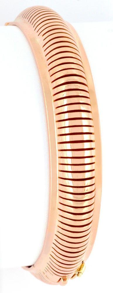 Foto 2, Armreif, Rotgold Handarbeit 18K, Designer Arbeit Luxus!, K2963