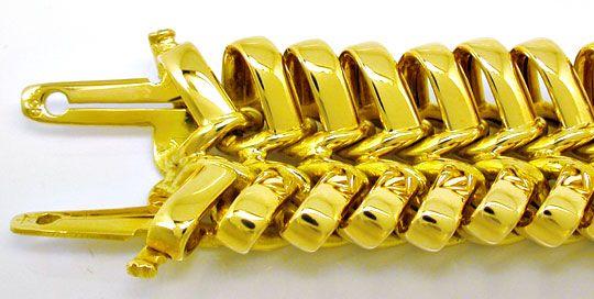 Foto 1, Super Designer Gelbgold Schlaufen Armband, Luxus! Neu!!, K2964