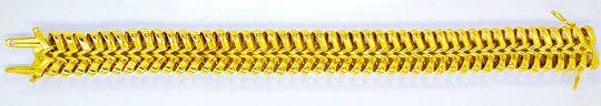 Foto 2, Super Designer Gelbgold Schlaufen Armband, Luxus! Neu!!, K2964