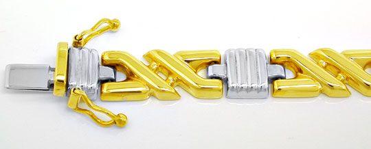 Foto 1, Tolles Designer Gold Armband Bicolor 14K/585, Shop Neu!, K2965
