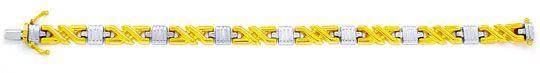 Foto 2, Tolles Designer Gold Armband Bicolor 14K/585, Shop Neu!, K2965