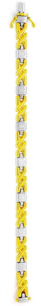 Foto 3, Tolles Designer Gold Armband Bicolor 14K/585, Shop Neu!, K2965